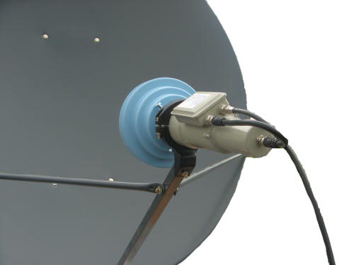 Conical Scalar Ring Use offset dish on C-Band LNB