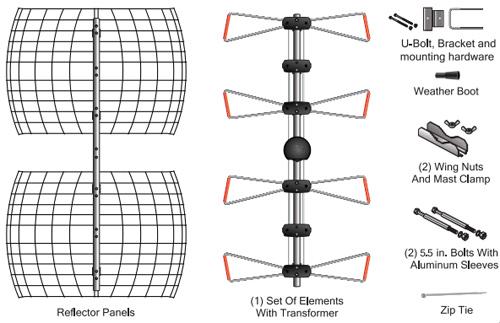 antennas direct db4e extendedrange outdoor tv antenna uhf