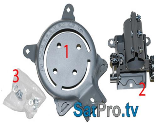 assembly and installation instructions for the directv rh satpro tv DirecTV Slimline Dish Flat Mount DirecTV Slimline Dish