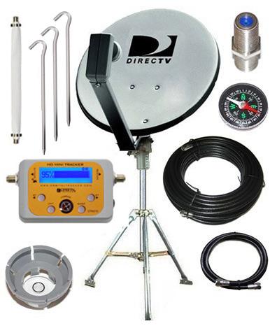 Directv 18 Quot Dual Lnb Rv Portable Satellite Kit For Camping