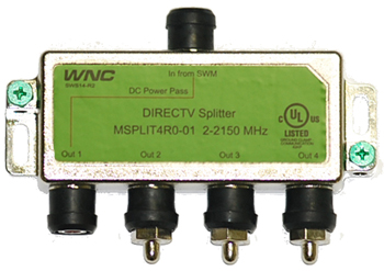 4wayswmsplitter directv 4 way wide band splitter for swm msplit4r1 03 Direct TV at aneh.co