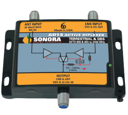 Sonora SWM Output - Off-Air Active Diplexer AD14