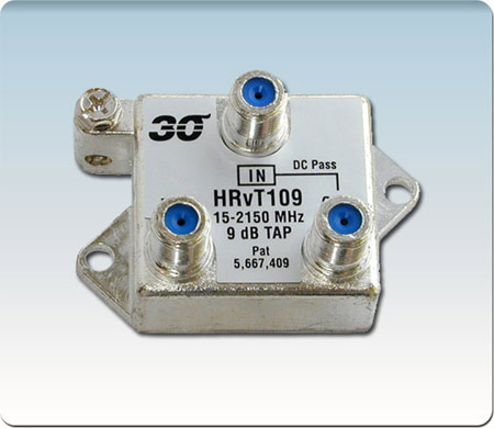 1-Port High Perf. 9 dB Vertical Tap Coupler 2-2400 MHz HRvT109