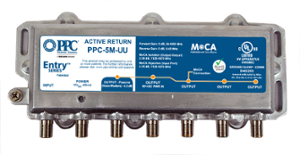 PPC MoCA Enabled 5-Port Active Return Coax Amplifier Splitter