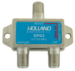 Diplexer 2 amp Power Passing 5-2150 MHz Holland Dish Approve DPD2