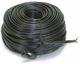 Hot Shot Satellite Dish Heater Cable Assembly 100 ft w/plug