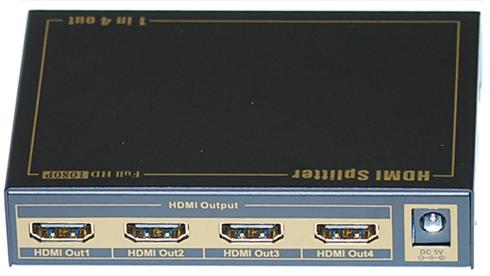 Hdmi 1 4a splitter 1x4 full hd 1080p mini type support 3d
