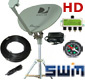 SWM portable satellite dish