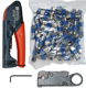 basic cable coax compression too and cable striper and connectors kit