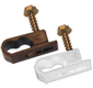 Dual Flex Coax Cable Clips with Screw