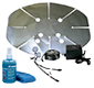 Slimline Satellite Dish Heater by Hot Shot W Cable - Power