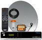 Complete FTA Satellite System, Viewsat Receiver, LNB, 90 cm Dish W/Meter