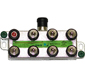 DIRECTV 8-Way Wide Band Splitter