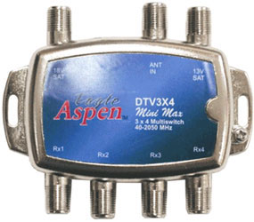 3X4 Multiswitch by Eagle Aspen DTV3x4