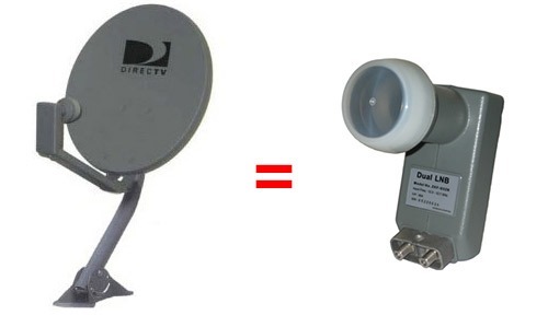 Directv 18 inch dish and lnb