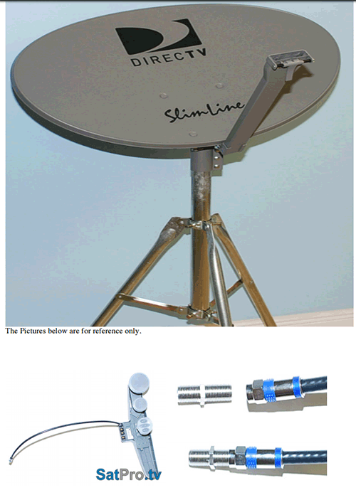 Assembly and installation instructions for the DirecTV