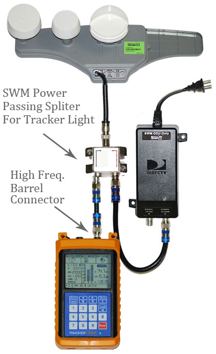 new tracker light satelliet meter signal locked. Black Bedroom Furniture Sets. Home Design Ideas