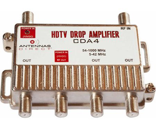 Antennas Direct CDA4 4 Output TV / CATV Distribution Amplifier