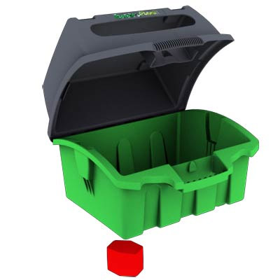 Enviroreel-Kit Enviroreel and Adapter Key Green Cable Dispenser