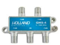 Holland GHS-4 electronics catv moca rated 4-way splitter