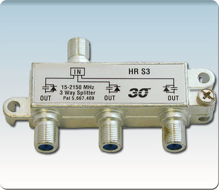 Diode Steered High Performance 3-Way Splitter 2-2400 Mhz HRS3