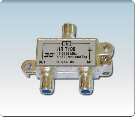 1-Port High Perf. 6 dB Tap Coupler 2-2400 MHz HRT106