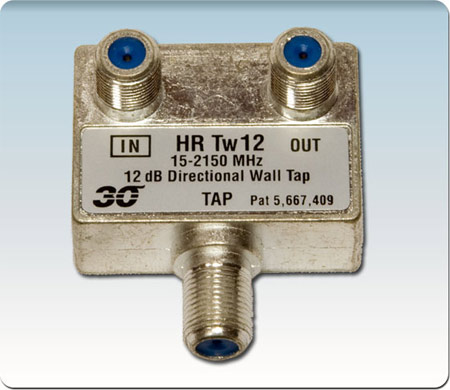 1-Port High Perfor 12 dB Tap Coupler Wall-plate 2-2400 MHz HRTw112