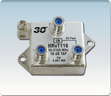 1-Port High Perf. 16 dB Vertical Coupler 2-2400 MHz HRvT116
