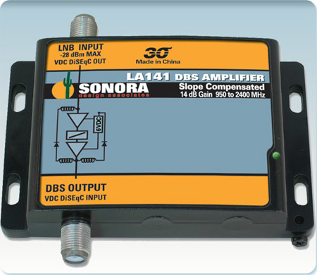 Sonora Line Amplifier 14dB 950 to 2150 MHz LA141