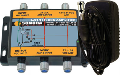 Sonora SWM Amp 14 dB Gain 12V Power Supply LA141R-T