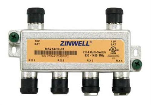 the 2x4 multiswitch by zinwell ms2x4r0 03 allows you to spit the rh satpro tv
