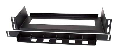 6 Slot D12 Shelf for SMATV Rack BLK PV6PACK-D12