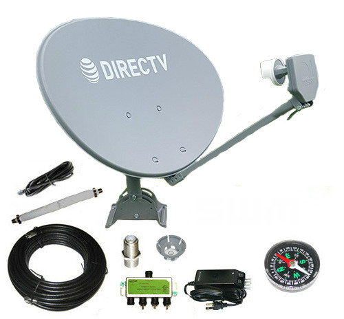 Directv SWM SL3S Low-Por Satellite Dish RV Kit for Camping Tailgating