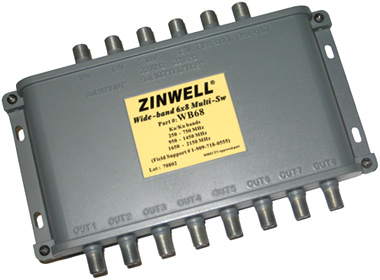 8 Way DIRECTV Zinwell Multiswitch 6X8 WB68 or the MS6X8WB-Z