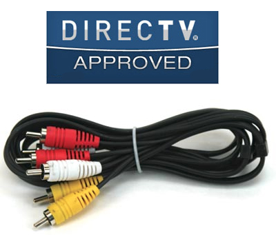 DirecTV Composite Cable 6 Ft, Yellow, White, Red