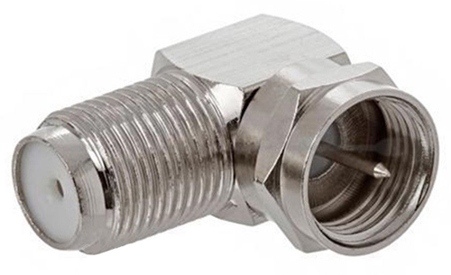 RG6 90 Degree Connector Right Angle Female to Male Coax Adapter (Each)