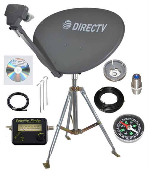 Directv SL3 LNB 4 Out. Portable Satellite RV Kit Camping Tailgating