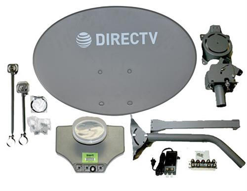 Directv SWM SL3S Slimline Dish Kit LNB Power Splitter and Dish