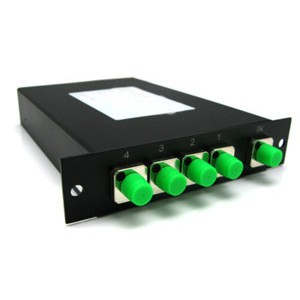 Multicom - Fiber Optic Splitter, Rack Mount, PLC, SC/APC, 1x4