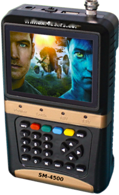 Trimax SM-4500 Digital Satellite Meter with TV Screen.