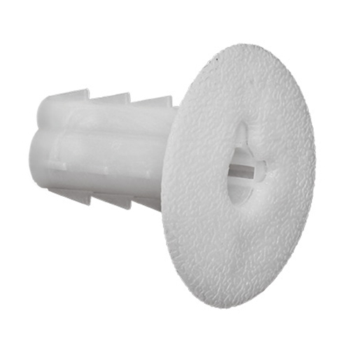 Single Coax Cable Feed Thru Wall Bushings w/Knockout in White 100 Bag