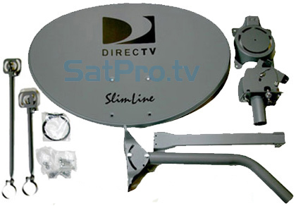 Directv Swm Sl5s Slimline Dish Kit Lnb Power Splitter And Dish