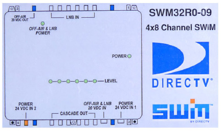 swm 32 directv multiswitch with 24v power supply rh satpro tv SWM Multiswitch Wiring-Diagram Direct TV SWM Wiring Diagrams